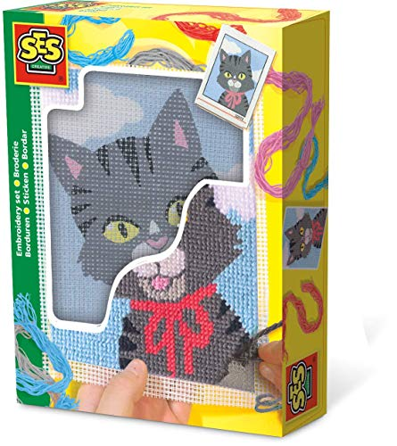 (SES Creative Embroidery Cat Set)