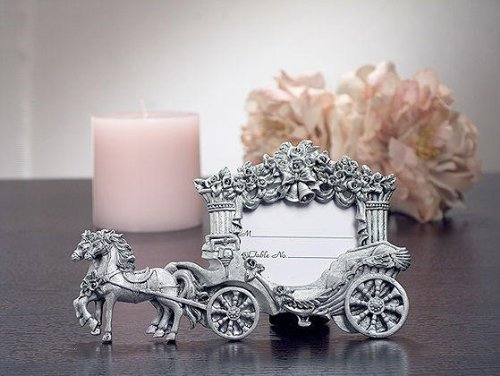 (2X3 Pewter Finish Place Card Frame Wedding Coach C5422 Quantity of 1)