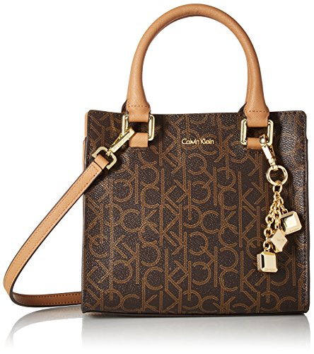 Calvin Klein Logan Monogram Signature Crossbody, Brown/Khaki