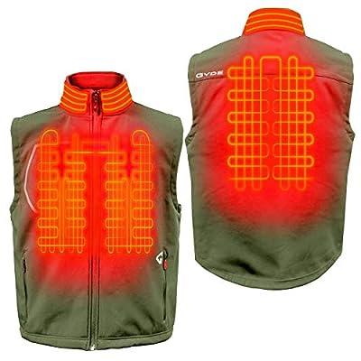 Gerbing Gyde Torrid Softshell Vest - 7V Battery Heated Clothing for Men, Olive Green at  Men's Clothing store