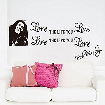Bob Marley Quotes Vinyle Wall Decals Poster Wall Art Wallpaper Wall