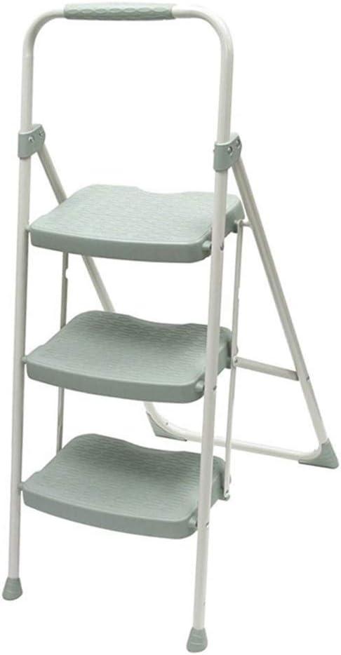 Zryh - Escalera para el hogar de Tres peldaños de Hierro Escalera ampliada con Pedales Antideslizantes (tamaño: Escalera de 3 peldaños): Amazon.es: Hogar