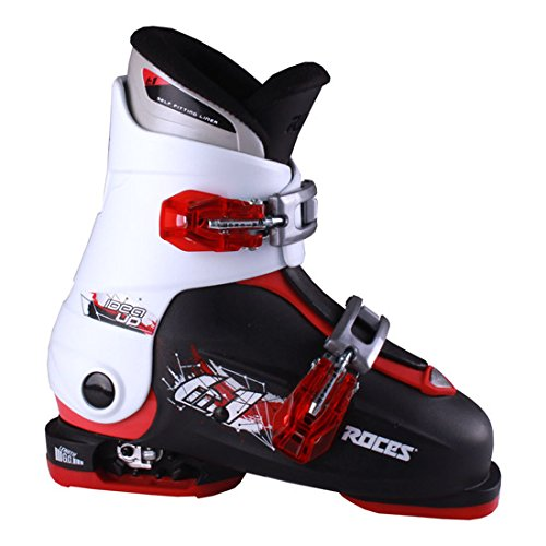 Black Kids Ski Boots - Roces 2016 Idea Adjustable Black/White/Red Kids Ski Boots 19.0-22.0