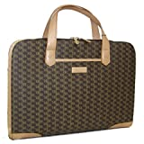 Aristo Brown Carry-On Briefcase by Rioni Designer Handbags & Luggage Reviews (Free Shipping Available)