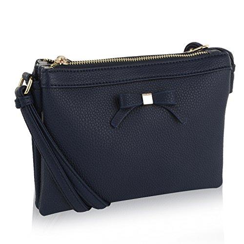 MKF Collection Celebrity Style Saddle Crossbody Bag,Waist Bag by Mia K Farrow (Navy Anastasia)