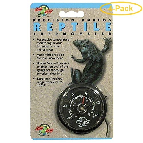 Zoo Med Precision Analog Reptile Thermometer Analog Reptile Thermometer - Pack of 4 ()