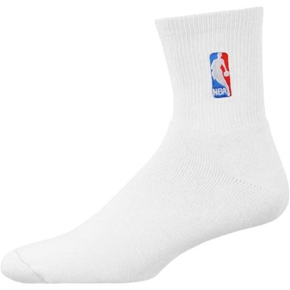 NBA White NBA Logoman 10-13 Quarter Socks