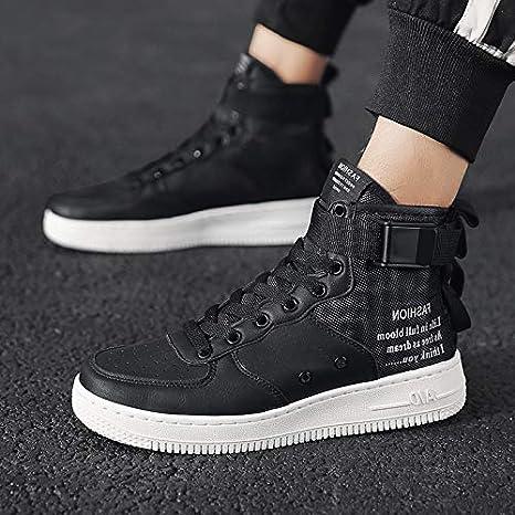 9eb901d22905f Amazon.com : NANXIEHO Men's Shoes Trend White Hip Hop Sport Leisure ...