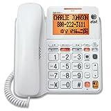 Office Phone Cord, Att Cl4940 Corded Home Desk Line Speaker Landline Phone, White
