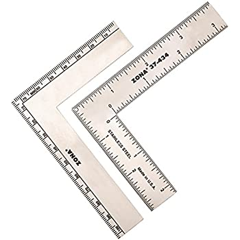 Zona 37-434 L-Square, Stainless Steel, 3-Inch x 4-Inch