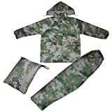 Topro CAMO Waterproof Rainsuit Jacket & Trousers Set Hooded Suit Coat