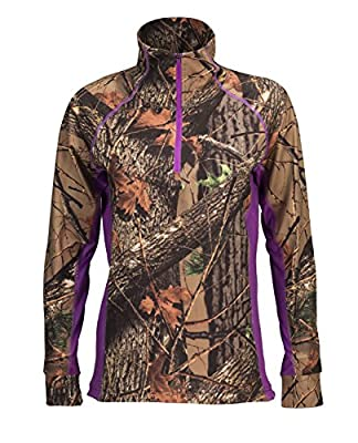 Trailcrest Camo Women's Impulse Active Performance 1/4 Zip Pullover Base Layer Long Sleeve Top