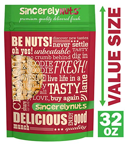 Sincerely Nuts – Whole Cashews Roasted and Salted   Two Lb. Bag   Deluxe Kosher Snack Food   Healthy Source of Protein, Vitamin & Mineral Nutritional Content   Gourmet Quality Vegan Cashew Nut