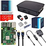 V-Kits Raspberry Pi 3 Model B+ (Plus) Complete Starter Kit with Official Black Case [LATEST MODEL 2018]