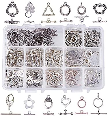 Round Toggle Clasps Antique Silver Metal Alloy 12x15mm  20 Pcs Findings Crafts