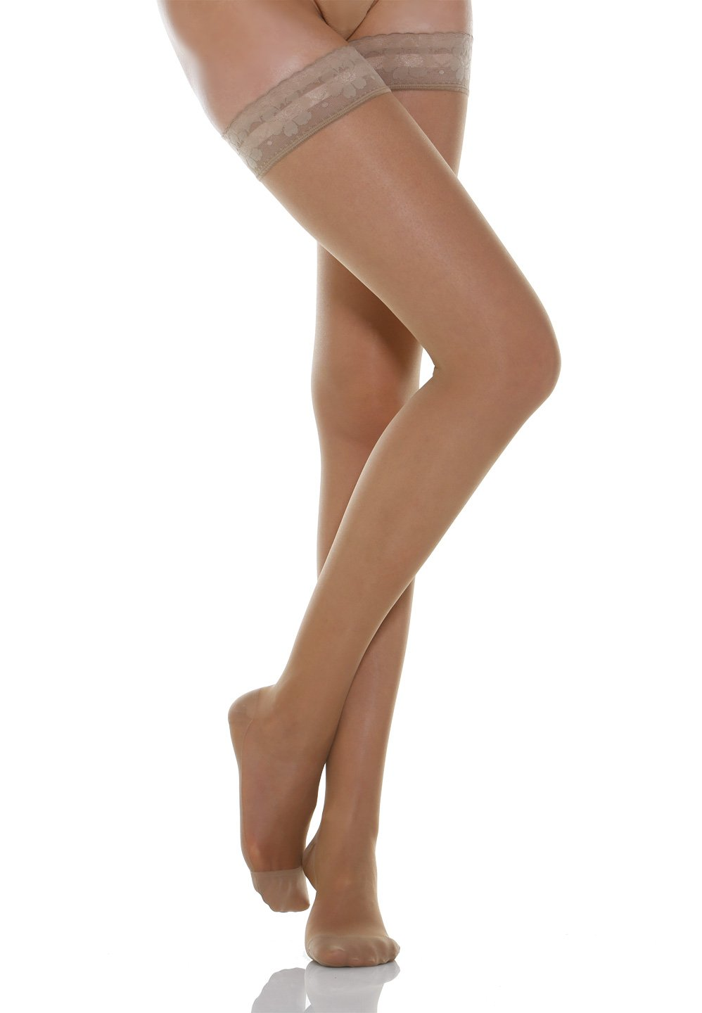 Relaxsan Basic 870 - moderate support Thigh High W/Lace stockings 15-20 mmHg Calze G.T. S.r.l.