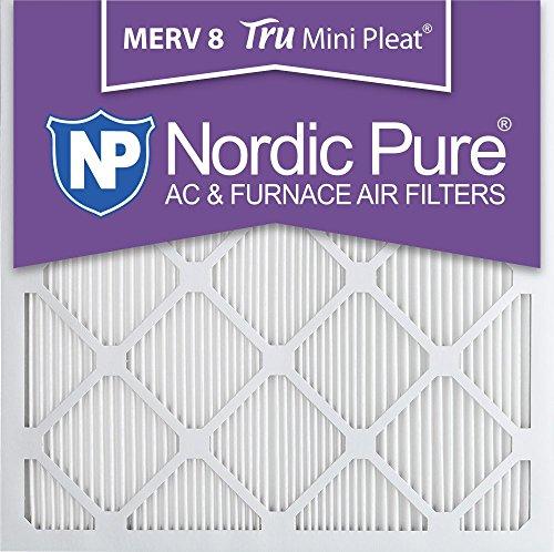 Pure 14x14x1M8MiniPleat-6 Mini Pleat MERV 8 AC Furnace Air Filters, 14-Inch x 14-Inch x 1-Inch, 6-Pack [並行輸入品]