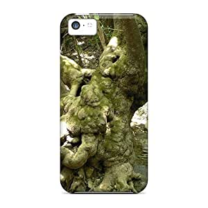 LJF phone case Shock-dirt Proof Old Tree Forest Case Cover For iphone 5/5s