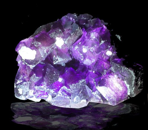 Huge Purple Fluorite Museum Quality Crystal -