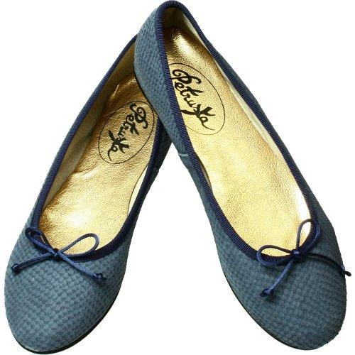 Da Sapatos De Bailarinas Óptica Em Vintage Key Couro Bailarina West Cobra Azul Do Do YCfTxwFqq
