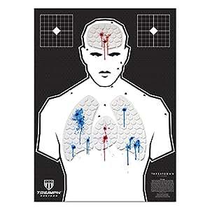 Threat Down Humanoid Silhouette   Reactive Target   Shooting Target   Reactive Splatter Cells   Air Rifle, Pistol, Shotgun, Tomahawk, Throwing Knives