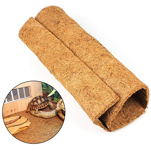 - AUOKER Reptile Carpet, Brown Reptile Terrarium Liner Mat Substrate Bedding Fits All Sorts of Gecko, Bearded Dragons, Lizards, Iguanas, Anoles, Turtles, Snakes - Made of Natural Coconut, 24 X 16 Inch