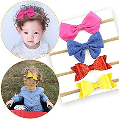 Baby Girl Headbands Hairbands Hair Bow Elastics for Baby Girls Newborn Infant Toddlers Kids