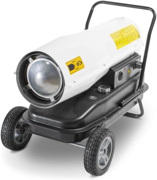 TROTEC Calefactor de gasoil Directo IDE 50 D, Potencia térmica Nominal de 50 kW (44.100 kcal), Termostato, Flujo de Aire: 750 m³/h, Ventilador axial, Portátil, Exteriores, Obras, Talleres