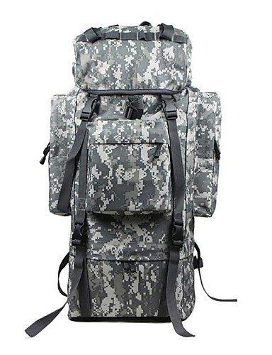 XH@G Tuobu ® 70l Berufsarmee Stil Camping Wandern Rucksäcke wasserdicht mit regen Abdeckung sepension unisex tb0007d2