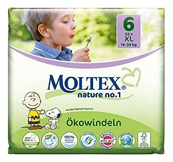 Moltex Nature No 1 x 22 Windeln 1 /Ökowindeln Gr/ö/ße 6 16-30 kg, XL