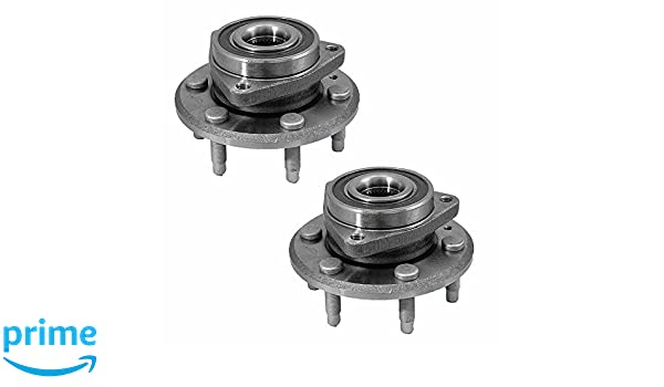 6 Lug 4-Wheel ABS Longgo AF513277 x 2 New Wheel Bearing Hub Assembly Front Left and Right Side Pair