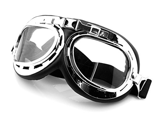 Motorcycle Accessories Outdoor Sports ATV Riding Scooter Driving Flying Vintage Men Protect Riding Goggles Glasses Silver For Harley Davidson Street Glide