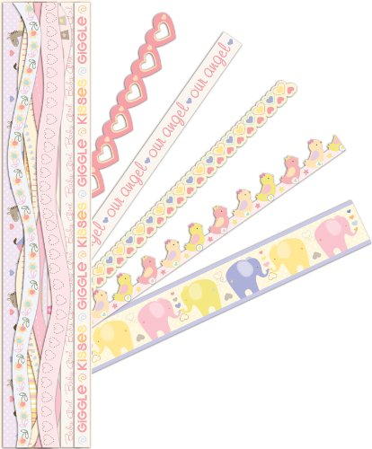 Scrapbooking Stickers Borders - K&Company Itsy Bitsy Baby Girl Adhesive Borders