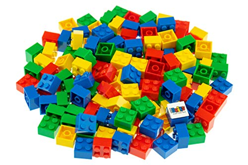 Strictly Briks Classic Bricks 144 Piece 2x2 Blue, Green, Red, and Yellow Building Brick Creative Play Set - 100% Compatible with All Major Brick Brands