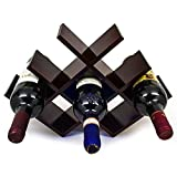 : Sorbus Wine Rack Butterfly - Stores 8 Bottles of Wine - Sleek and Chic Looking - Minimal Assembly Required (Dark Mahogany)