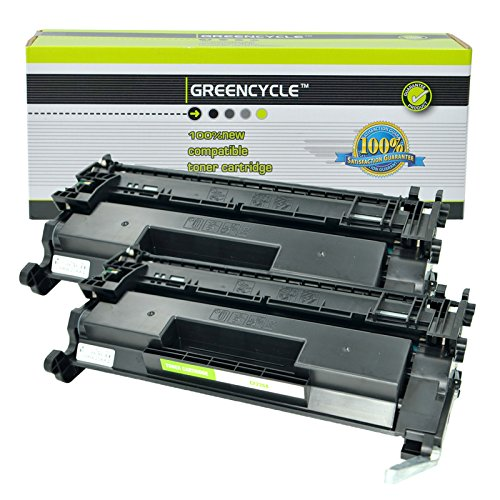 - GREENCYCEL 2 Packs Replacement for HP 26A CF226A 3100 Pages Black Compatible Toner Cartridge for Laserjet Pro M402 M426 M402n M402dn M402dw MFP M426fdw MFP M426fdn M402d MFP M426dw Series Printers
