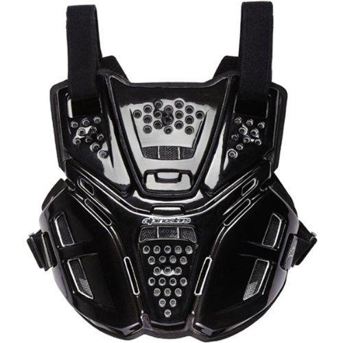 Alpinestars A-6 Men's Roost Deflector Motocross/Off-Road/Dirt Bike Motorcycle Body Armor - Black / One Size - Impact Roost Deflector