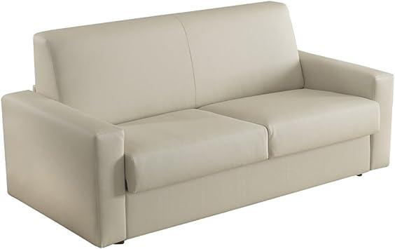 Canape Lit Convertible 2 Places Modele Elisa En Cuir