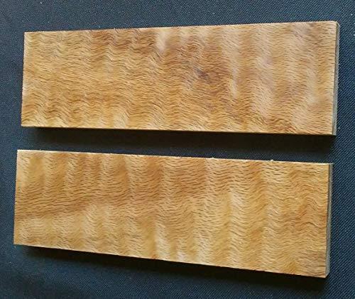 Hardwood Knife Scales by Wood-Hawk, Many Varieties (Curly Red Oak) ()