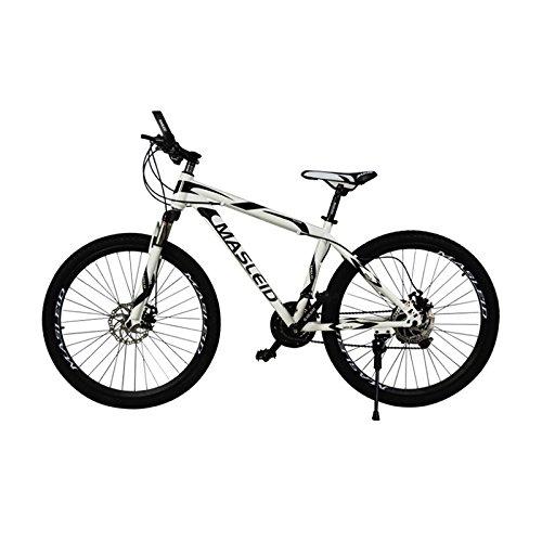 (Omeng Mountain bike disc brake mountain bike/bicycle wholesale liquor promotion(26'', 21 speed) (White, 26''))