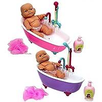 Küvetli Banyo Yapan Oyuncak Bebek