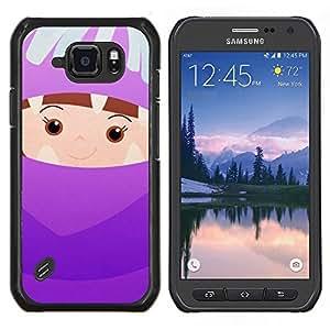 EJOOY---Cubierta de la caja de protección para la piel dura ** Samsung Galaxy S6Active Active G890A ** --Cabrito lindo Madre Padres hijos de