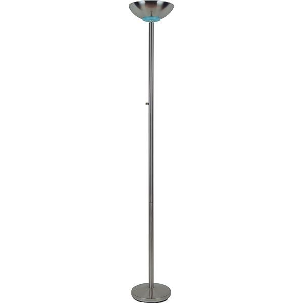 Amazon Com Milton Greens Stars Sawyer Torchiere Floor Lamp 72 Inch Satin Nickel Home Kitchen