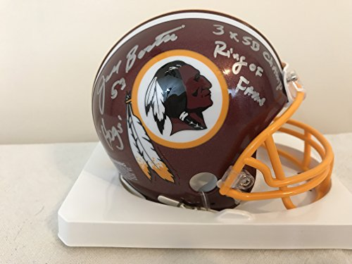 Jeff Bostic Autographed Mini Washington Redskins Helmet with Super Bowl, Ring of Fame & Hogs Inscriptions