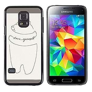 MOBMART Carcasa Funda Case Cover Armor Shell PARA Samsung Galaxy S5 Mini, SM-G800 - Love Yourself