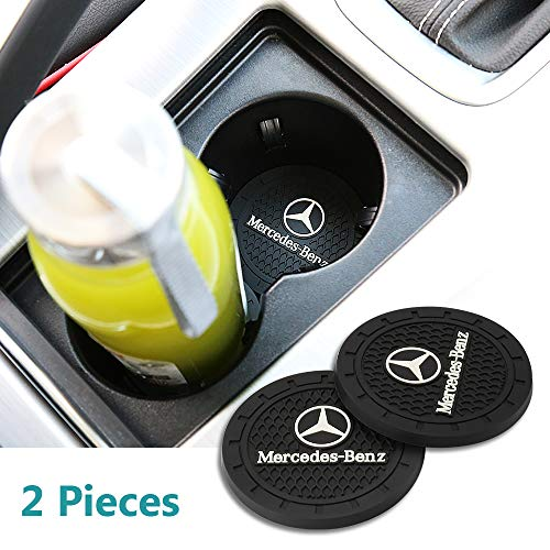 - Yuanxi Electronics 2 Pcs 2.75 inch Car Interior Accessories Anti Slip Cup Mat for Mercedes-Benz S Serie,E Serie,C Serie,W Series,A Series,etc All Models (Mercedes-Benz)