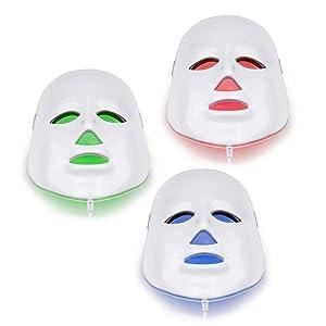 NORLANYA Photon Therapy Facial Skin Care Treatment Machine Facial Toning Mask - Blue Red Green Photon Light