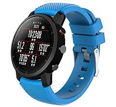 Modaworld _Correa de reloj Suave de Silicona Sports Band para HUAMI Amazfit Stratos Smart Watch 2 Correas de Reloj Inteligente Pulseras de Repuesto (Rosa ...