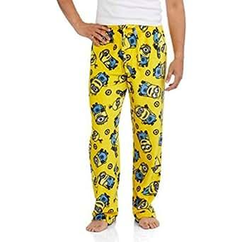 Despicable Me Minions Men's Cozy Fleece Pants (L)