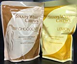 Proti Care - Diet Chews with CLA and Calcium - Lemon or Chocolate - Sugar Free - Bag of 28 - ONLY 20 Calories each (One Bag each: Lemon & Chocolate)